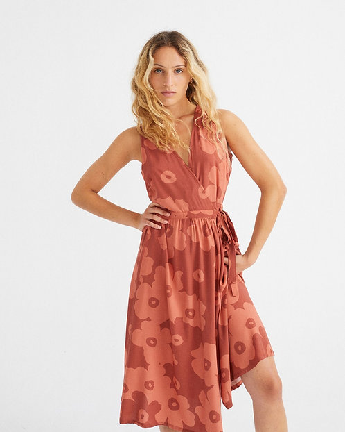 Kleid BIG FLOWERS TEJA AMAPOLA aus ECOVERO