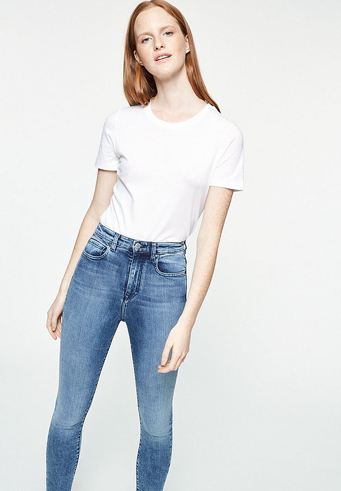 Jeans INGAA stone wash - High Waist Skinny Fit aus Bio-Denim