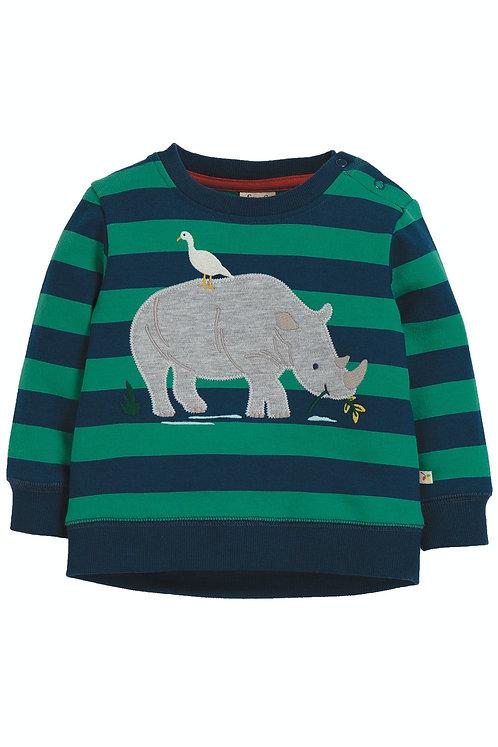 Sweater JUMP ABOUT JUMPER RHINO aus reiner Bio-Baumwolle
