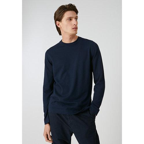 Pullover LAADO navy aus reiner Bio-Baumwolle