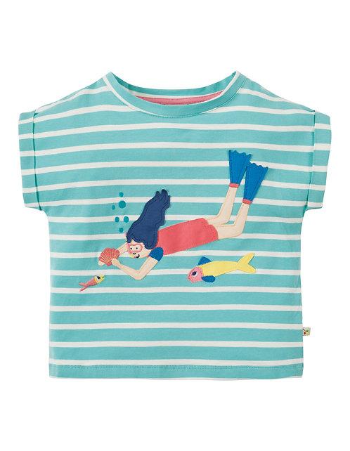 T-Shirt BELLA STRIPY aus reiner Bio-Baumwolle