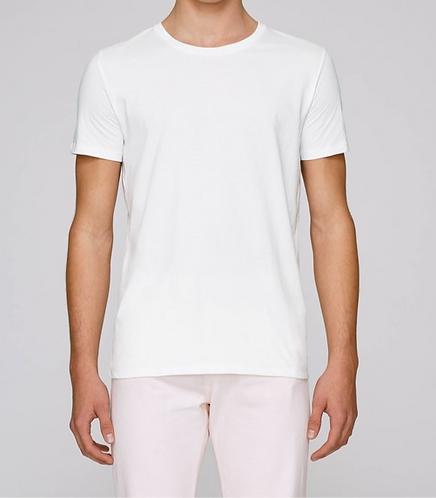 T-Shirt Herren - Weiß aus reiner Bio-Baumwolle