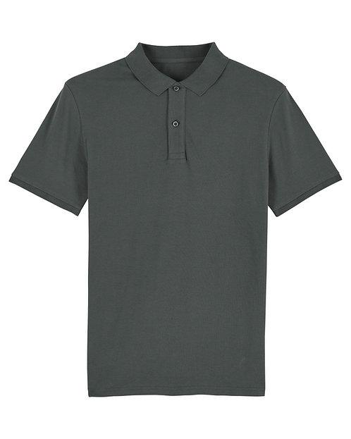 Herren-Poloshirt anthrazit aus reiner Bio-Baumwolle