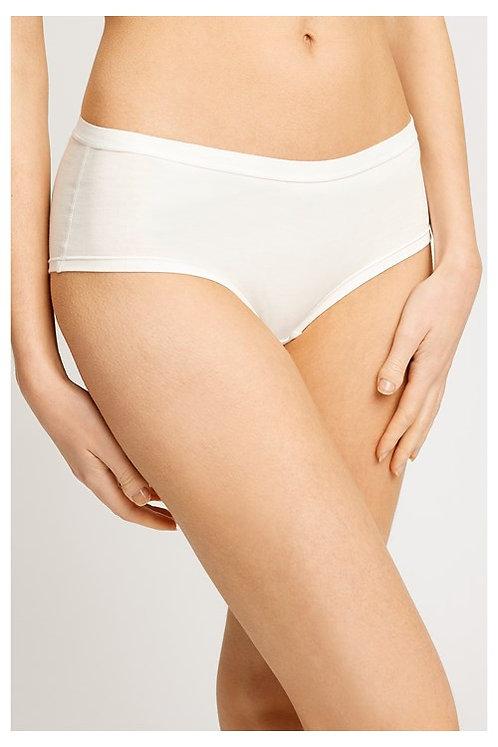 Shorts LOW RISE WHITE aus Bio-Baumwollmix