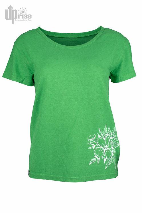 T-Shirt ZAZ TEE GREEN aus Hanf und Bio-Baumwolle