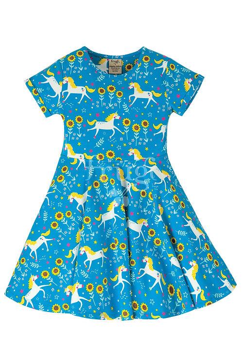 Kleid SPRING SKATER DRESS UNICORN aus Bio-Baumwollmix