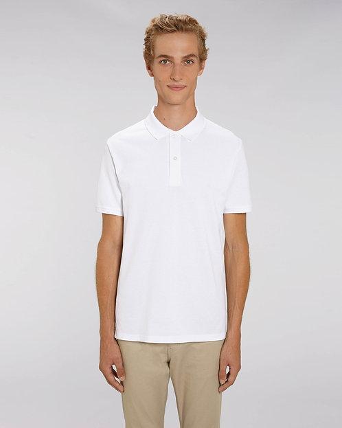 Herren-Poloshirt weiß aus reiner Bio-Baumwolle