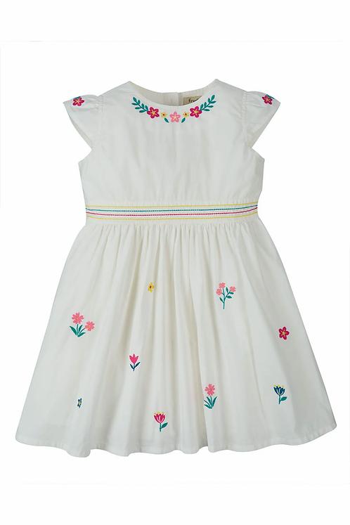 Kleid ROSY EMBROIDERED DRESS aus reiner Bio-Baumwolle