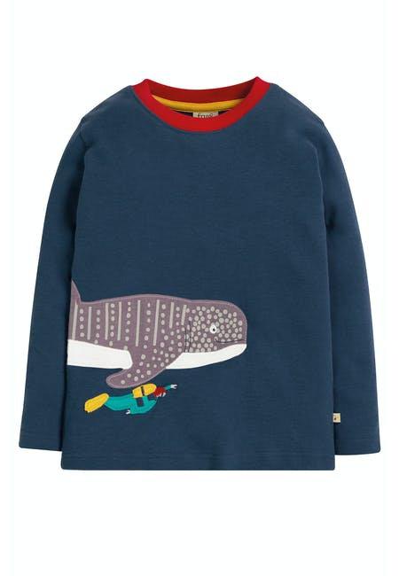 Langarmshirt JOE WHALE SHARK aus reiner Bio-Baumwolle