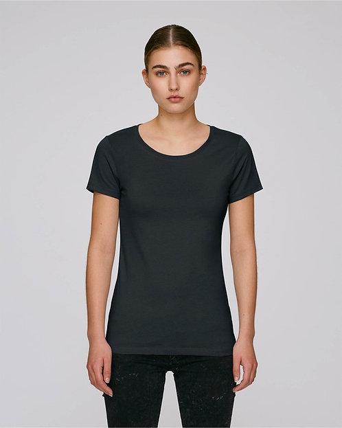 T-Shirt Damen - Schwarz aus reiner Bio-Baumwolle
