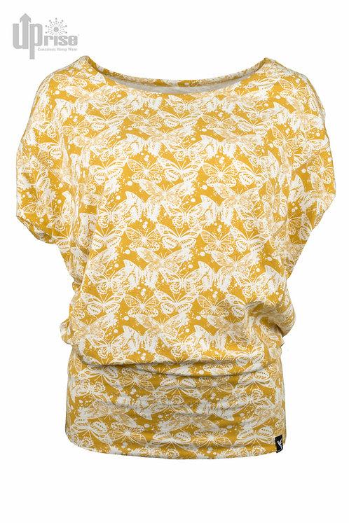 Bluse WING SWEAT OCHRE aus Hanf und Bio-Baumwolle