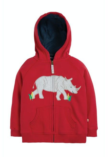 Kapuzensweater LUCAS RHINO aus reiner Bio-Baumwolle