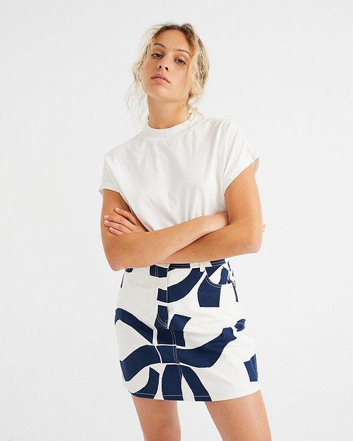 T-Shirt BASIC WHITE VOLTA aus reiner Bio-Baumwolle