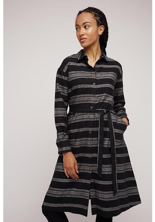 Kleid GRETA aus handverwebter Bio-Baumwolle