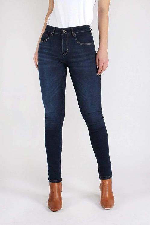 Jeans CAREY SKINNY DARK BLUE aus Bio-Denim