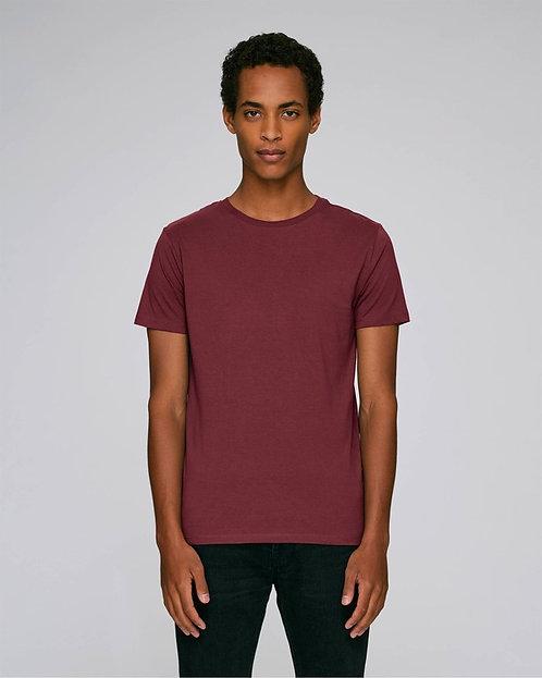 T-Shirt Herren - Weinrot aus reiner Bio-Baumwolle