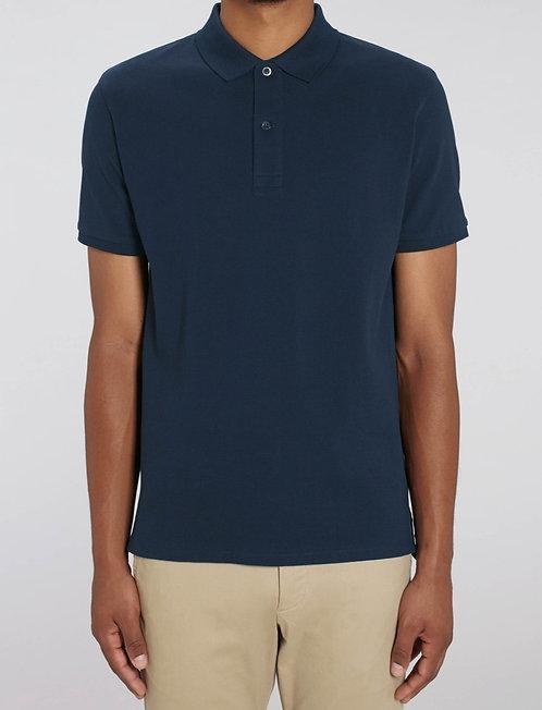 Herren-Poloshirt navy aus reiner Bio-Baumwolle