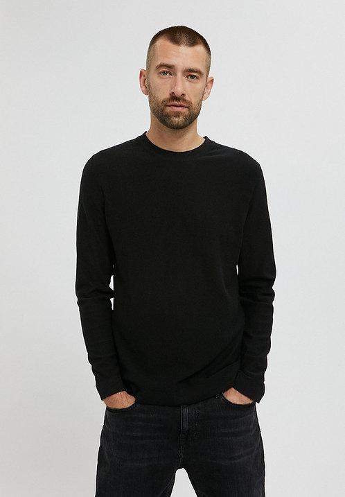 Pullover LAANDO BLACK aus reiner Bio-Baumwolle