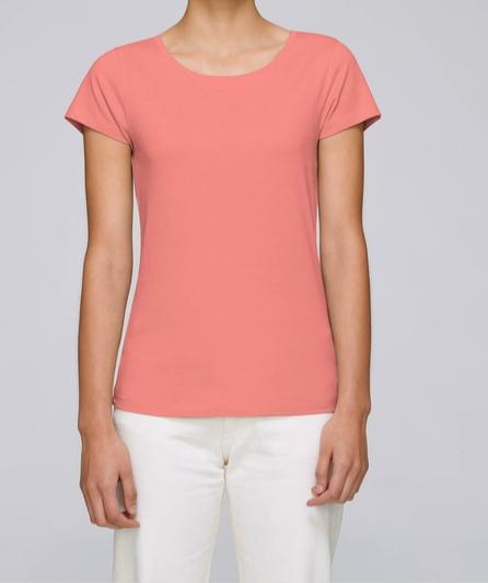 T-Shirt Damen - Flamingo Pink aus reiner Bio-Baumwolle
