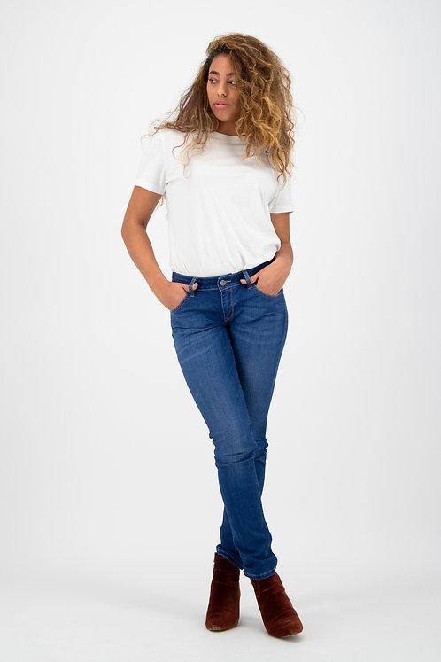 Jeans LISA royal blue - Mid Waist Slim Fit aus Bio-Denim