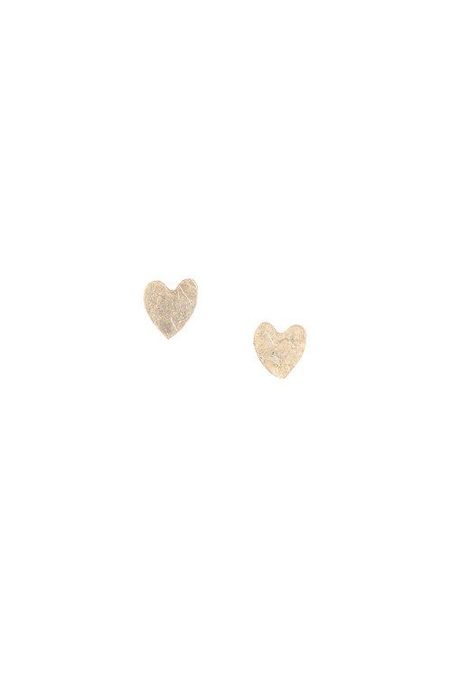 Ohrringe HEART aus versilbertem Kupfer