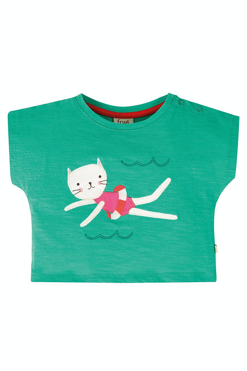 T-Shirt SOPHIA AQUA aus reiner Bio-Baumwolle