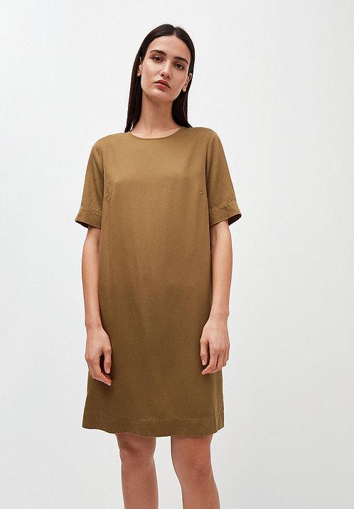 Kleid MARGITAA GOLDEN KHAKI aus 100% TENCEL