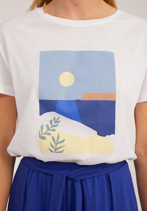 T-Shirt NELAA CALM SEA aus reiner Bio-Baumwolle