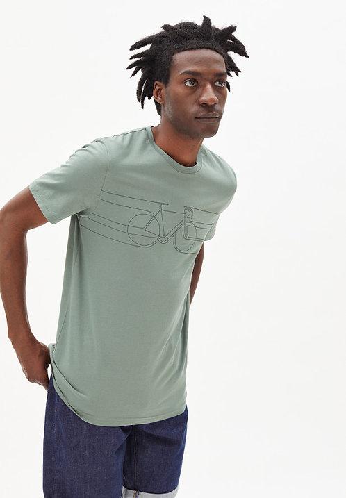 T-Shirt JAAMES SMOOTH BIKE aus reiner Bio-Baumwolle