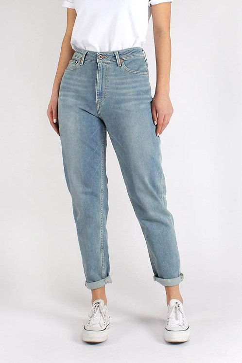 Jeans NORA LOOSE TAPERED FADED BLUE aus Bio-Denim