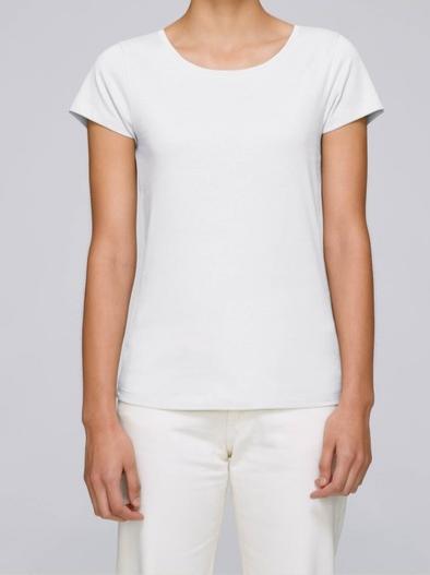 T-Shirt Damen Weiß aus reiner Bio-Baumwolle