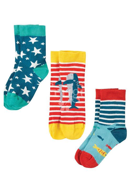 Socken 3er-Pack ROCK MY SOCKS SHARK aus Bio-Baumwollmix