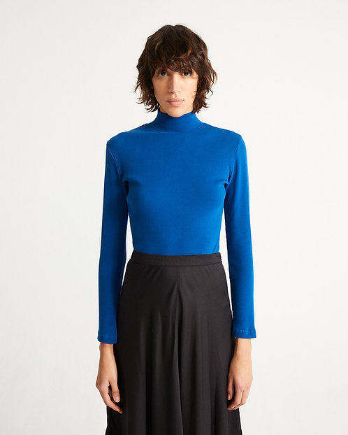 Langarmshirt BLUE RIB AINE TOP aus Bio-Baumwollmix