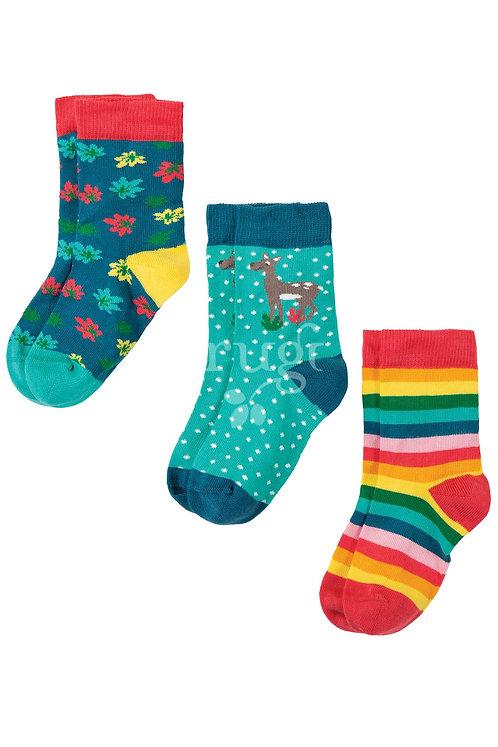 Socken 3er-Pack SUSIE DEER aus Bio-Baumwollmix