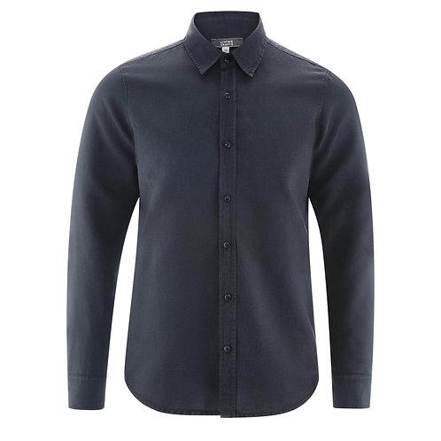Leinenhemd KEVIN INK BLUE aus Leinen und Bio-Baumwolle