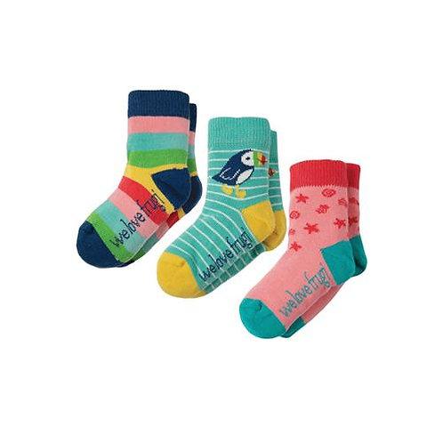 Socken 3er-Pack PUFFIN aus Bio-Baumwollmix