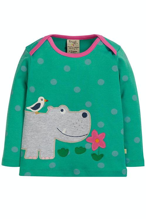 Langarmshirt BOBBY HIPPO aus reiner Bio-Baumwolle