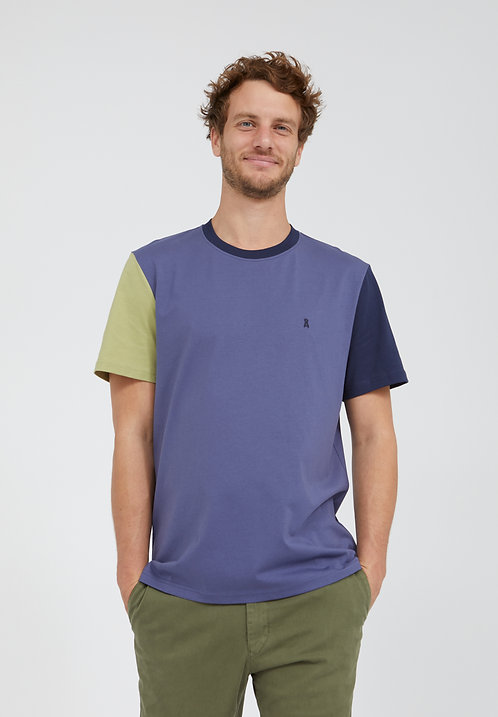 T-Shirt AADO COLORBLOCK aus reiner Bio-Baumwolle