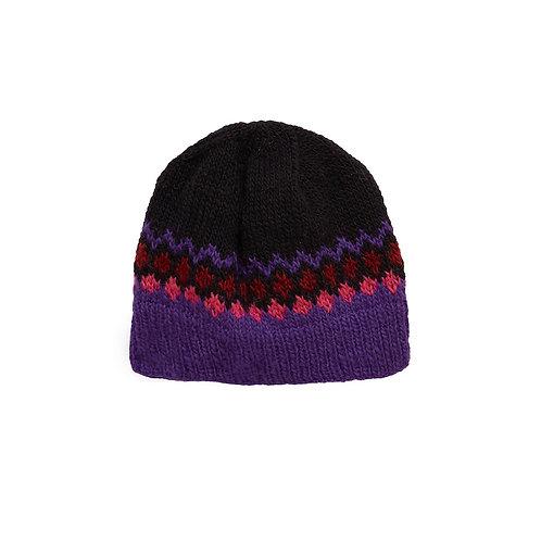 Handgestrickte Haube FAIRISLE HAT aus 100%Wolle