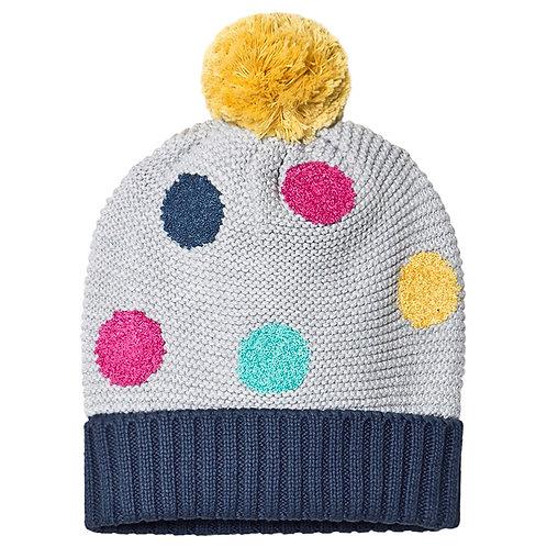 Haube EVIE BOBBLE HAT aus reiner Bio-Baumwolle