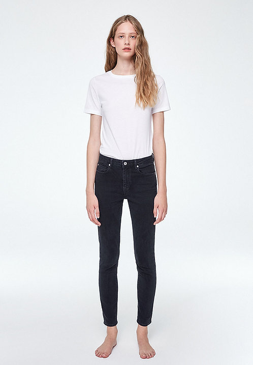 Jeans TILLAA washed down black - Skinny Fit aus Bio-Denim