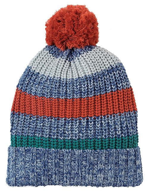 Haube BLIZZARD BOBBLE HAT aus reiner Bio-Baumwolle