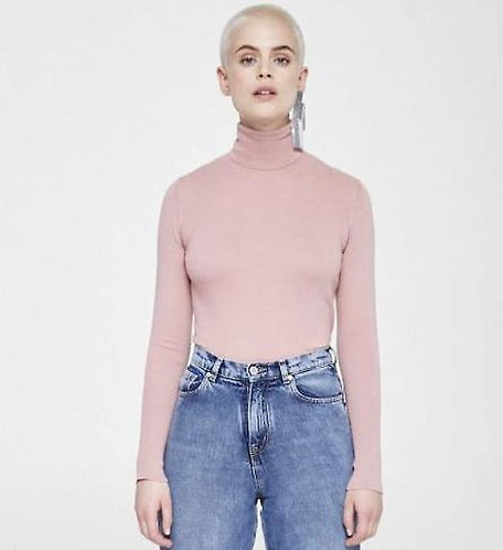 Pullover CELESTE DUSTY PINK aus reiner Bio-Baumwolle