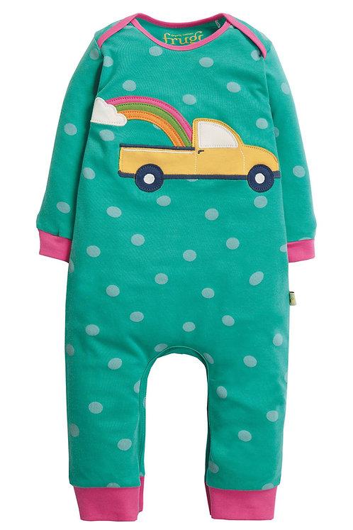 Schlafanzug CHARLIE ROMPER TRUCK aus reiner Bio-Baumwolle