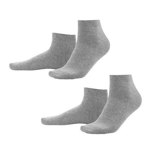 Sneaker-Socken 2er-Pack stone grey aus Bio-Baumwollmix