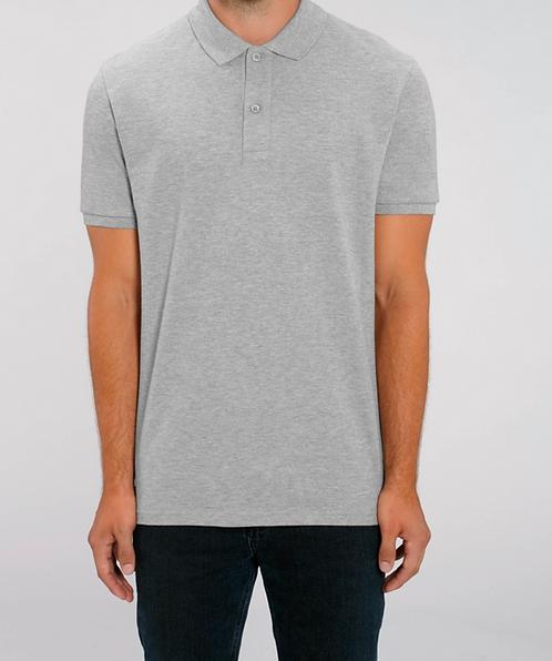 Herren-Poloshirt grau aus reiner Bio-Baumwolle