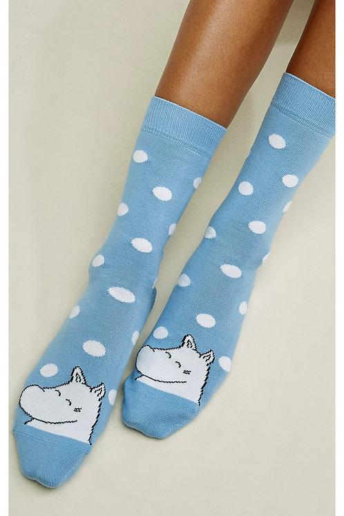 NEU: Socken MOOMIN DOT SOCKS LIGHT BLUE aus Bio-Baumwollmix