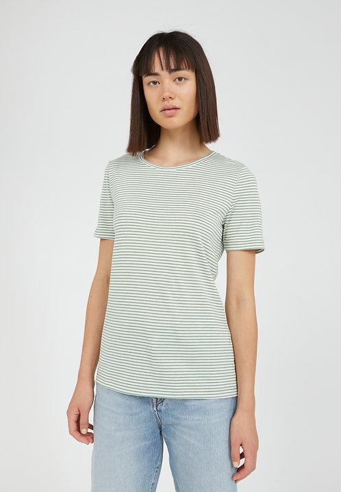 T-Shirt LIDIAA MATCHA-OATMILK aus TENCEL und Bio-Baumwolle