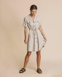 Kleid KAREN STONE HEMP aus Hanf, Bio-Baumwolle und TENCEL
