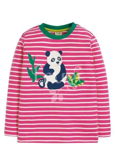 Langarmshirt DISCOVERY TOP PANDA aus reiner Bio-Baumwolle